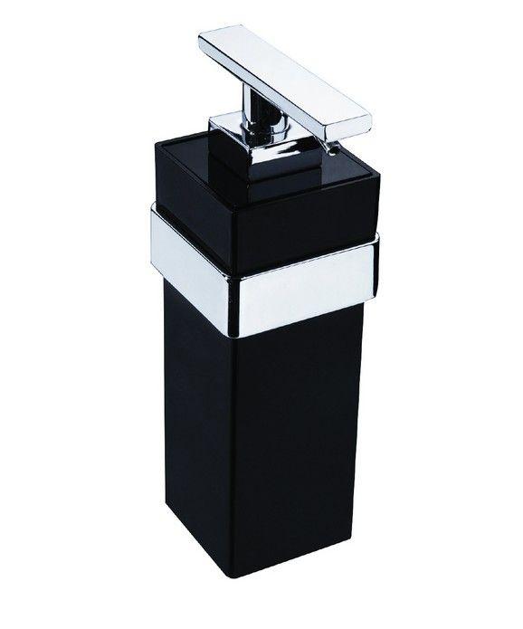 Saboneteira Líquida Fixa Zamac/Acrílico Zen SPIRIT Branco com cromo