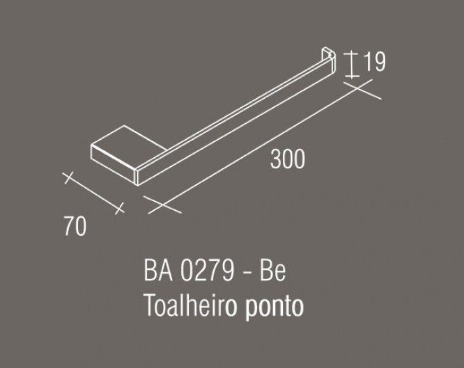 Toalheiro Ponto Zamac/Inox Zen Be