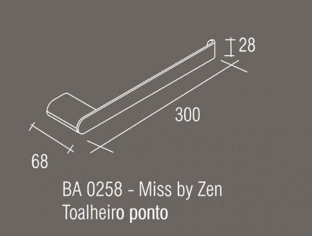 Toalheiro Ponto Zamac/Inox Zen MISS
