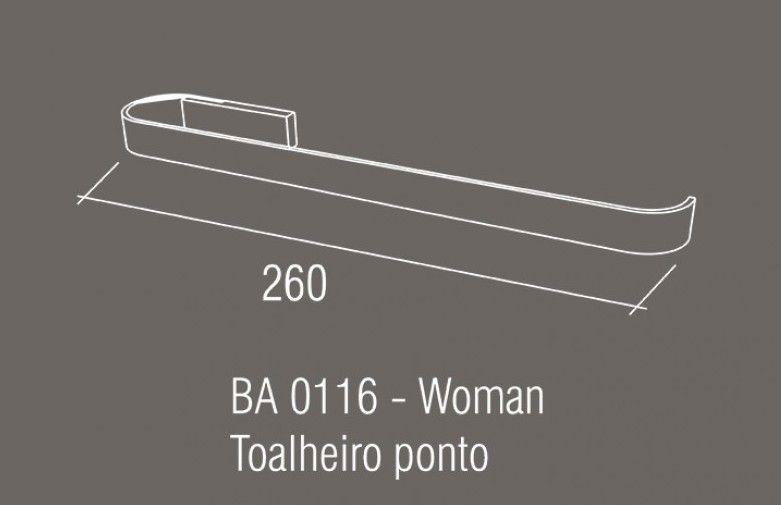 Toalheiro Ponto Zamac/Inox Zen WOMAN