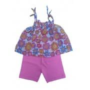 Conjunto Bata e Shorts para Bebê