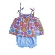Conjunto Bata Flores com Shorts
