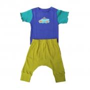 Conjunto calça e Body Azul Navio e Peixes