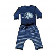 Conjunto calça e Body Marinho Elefante