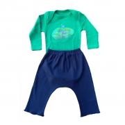 Conjunto calça e Body Verde Arvore