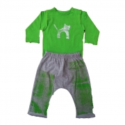 Conjunto calça e Body Verde  Gato