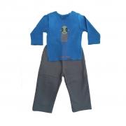 Conjunto calça moleton e Camiseta Manga longa Azul ET