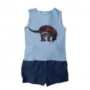 Conjunto shorts e regata Dino