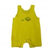 Macacão Regata Amarelo Peixes para Bebê