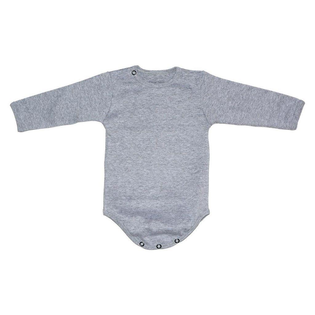 Body em Malha Cinza para Bebê Unissex