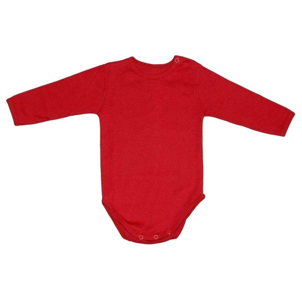 Body em Malha Vermelha para Bebê Unissex