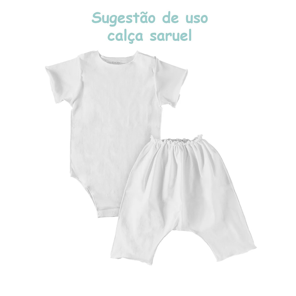 Body Manga Curta Branco Confort