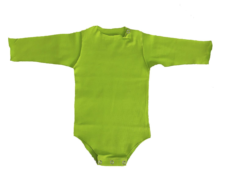 Body Manga Longa Verde