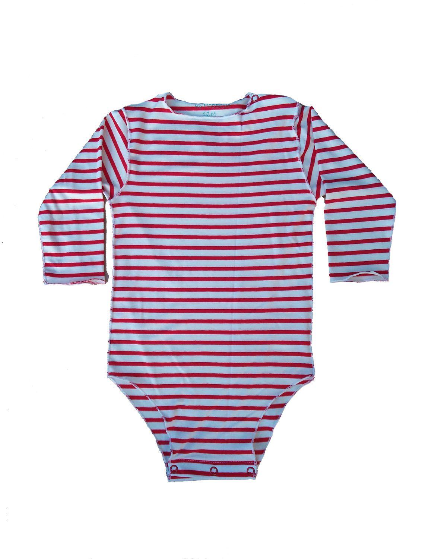 Body Segunda Pele Listrado Para Bebê