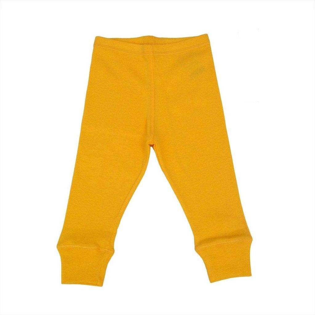 Calça Legging em Malha Amarela para Bebê