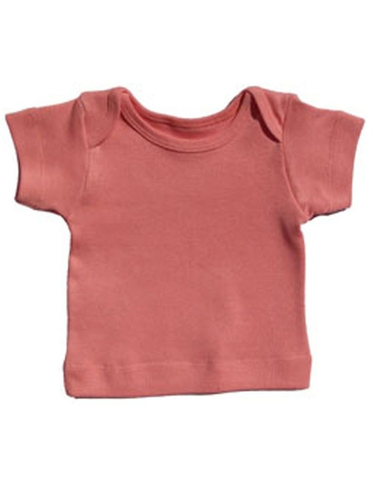Camiseta Manga Curta Básica para Bebê Rosa Feminino