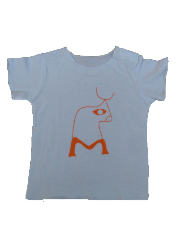 Camiseta Manga Curta Branca para Bebê