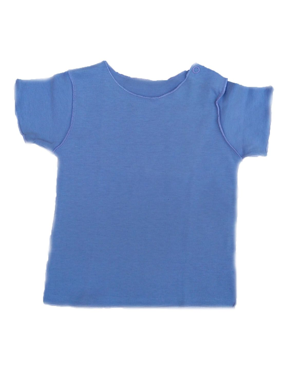 Camiseta Manga Curta Lilás para Bebê