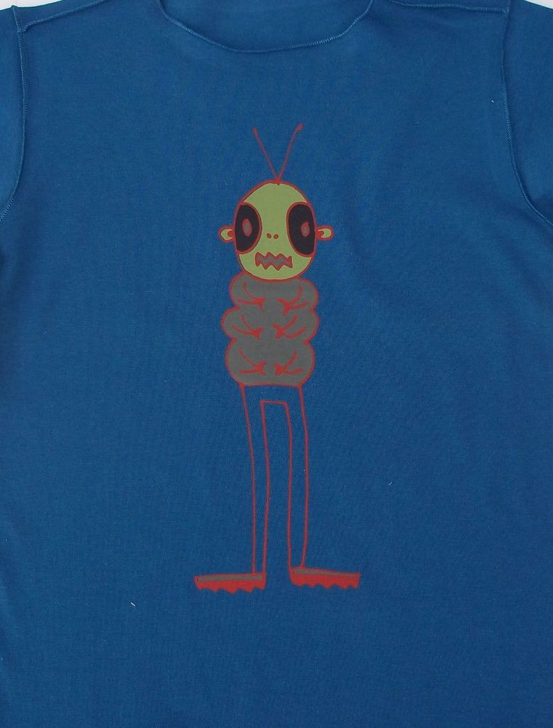 Camiseta Manga Longa Azul Bbmoderno