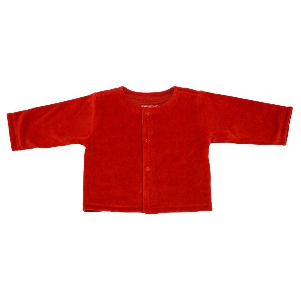 Casaco em Plush Vermelho para Bebê