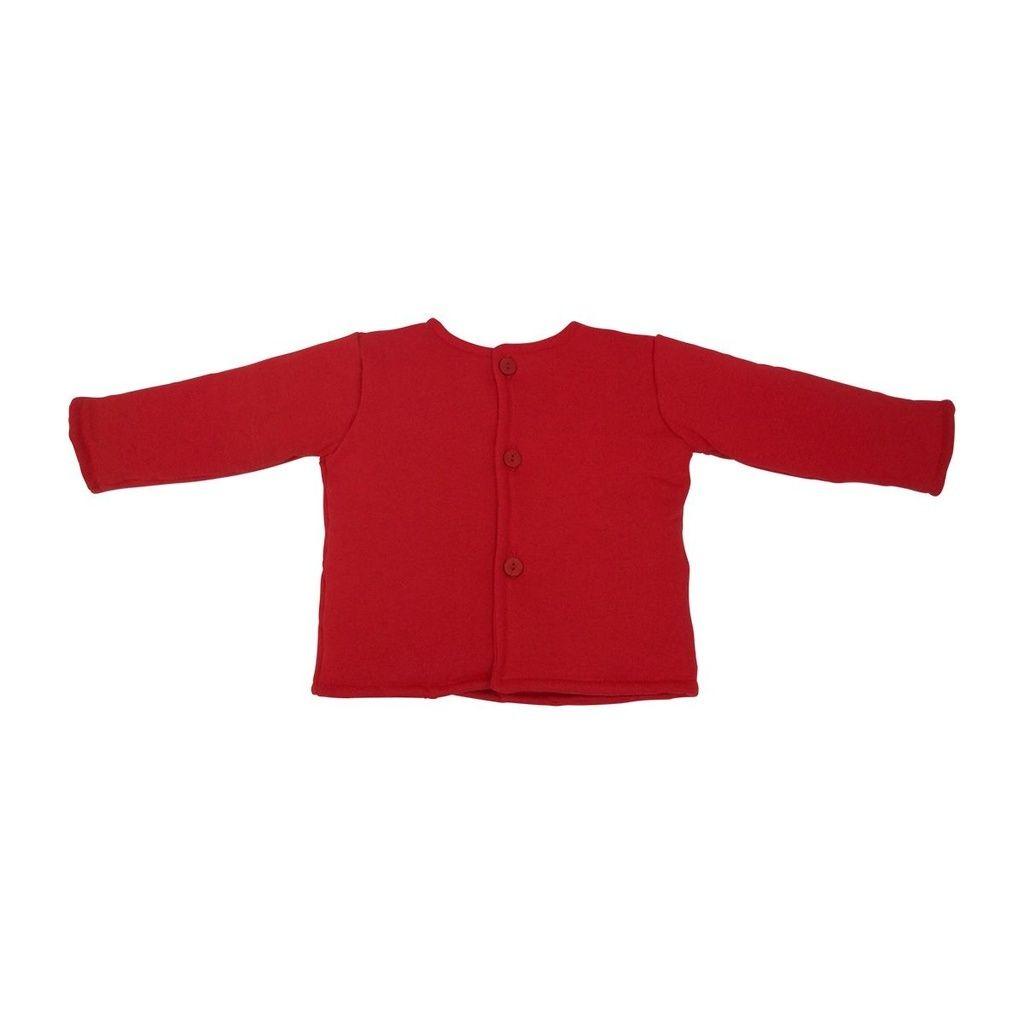 Casaco Fofão em malha Vermelho para Bebê