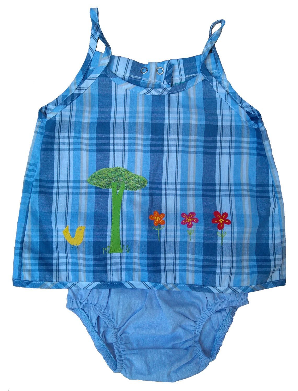 Conjunto Bata e Calcinha para Bebê Menina