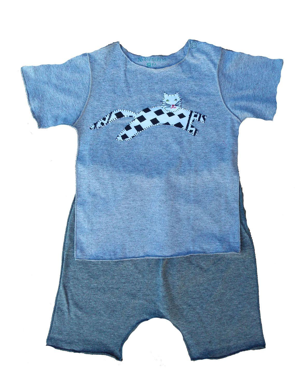 Conjunto calça curta e Camiseta para Bebê