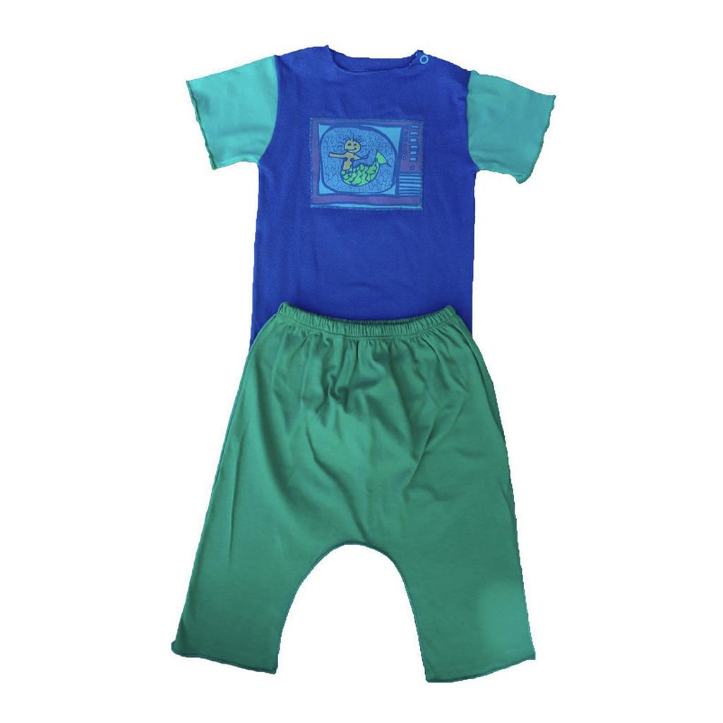 Conjunto calça e Body Azul Sereia