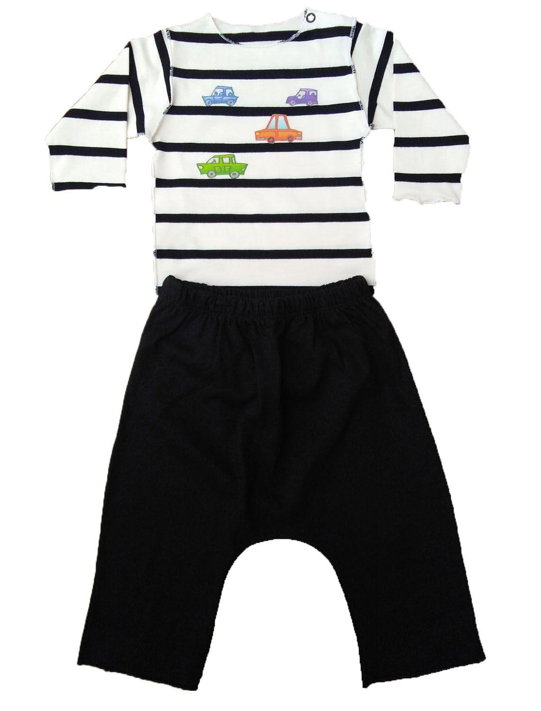 Conjunto calça e Body listrado para Bebê
