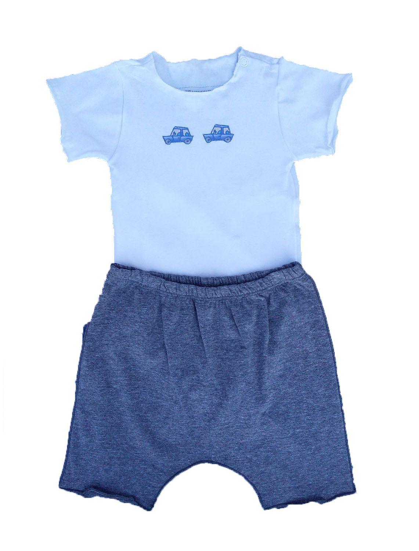Conjunto calça e Body Manga Curta para Bebê