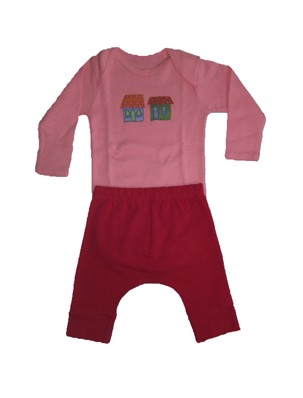 Conjunto calça e Body Manga longa para Bebê