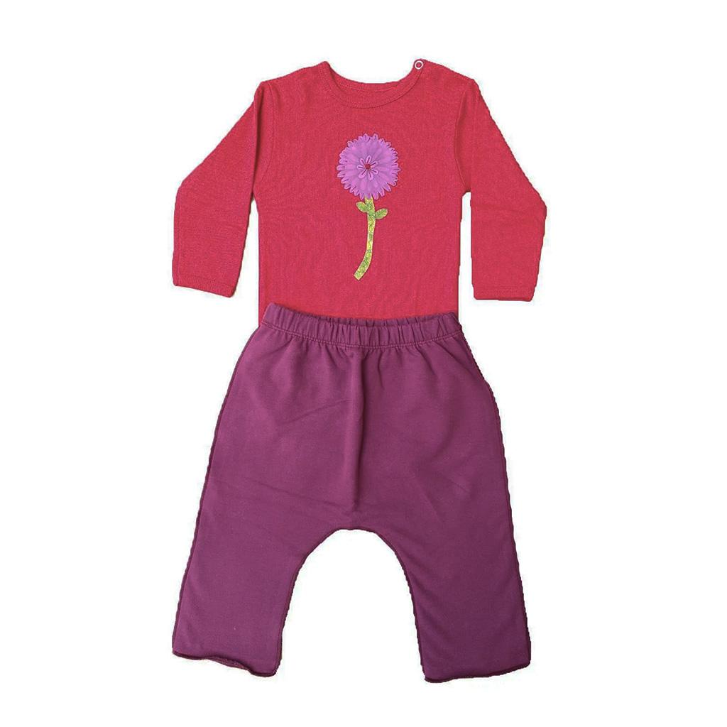 Conjunto calça e Body Vermelho Flor