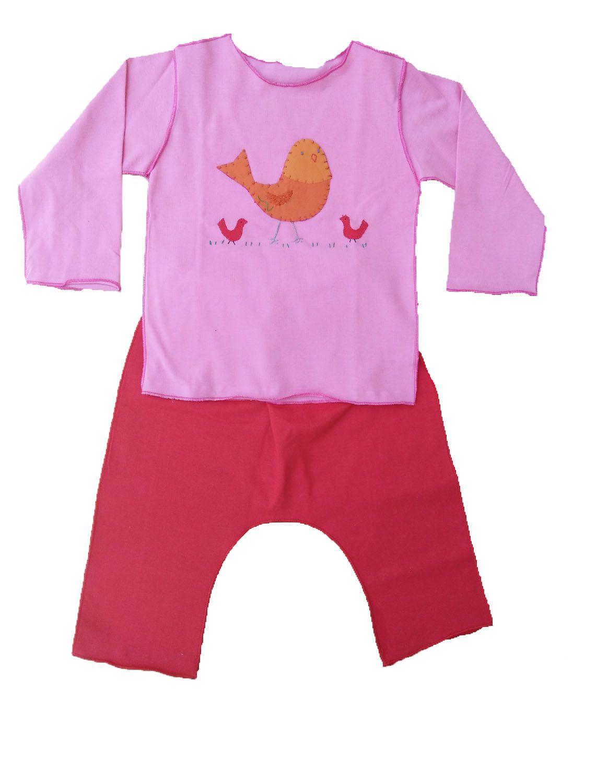 Conjunto calça e Camiseta Manga Curta para Bebê