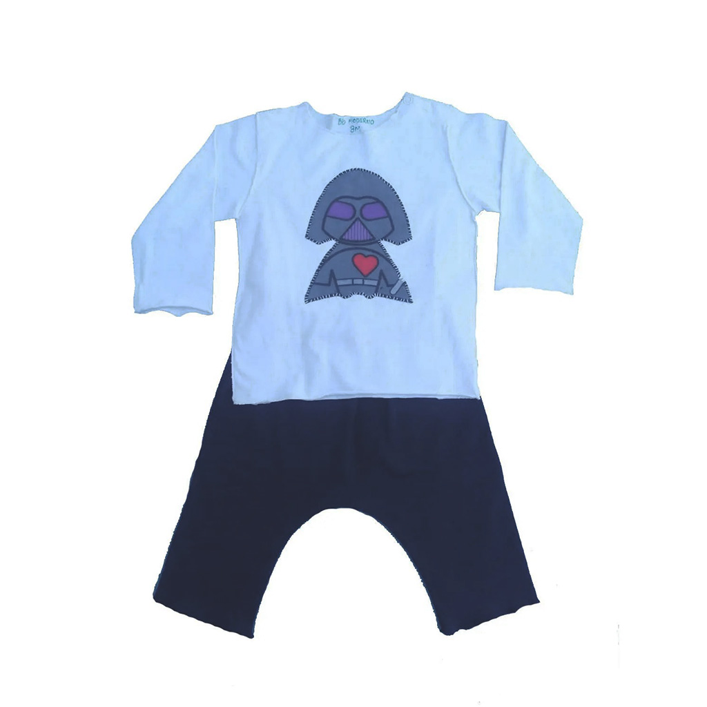 Conjunto calça e Camiseta Manga longa Darth