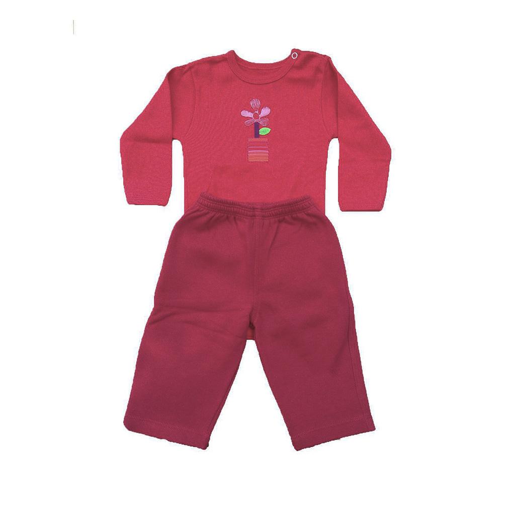 Conjunto calça moleton e Body Vermelho Flor