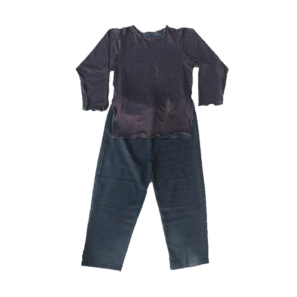 Conjunto calça moleton e Camiseta Manga longa Listrada