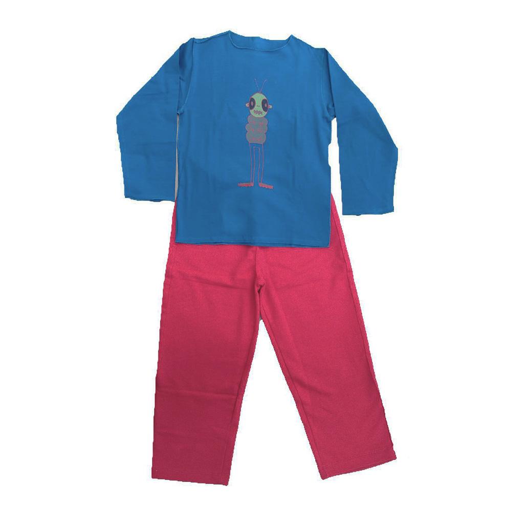 Conjunto calça moleton e Camiseta Manga longa Vermelha