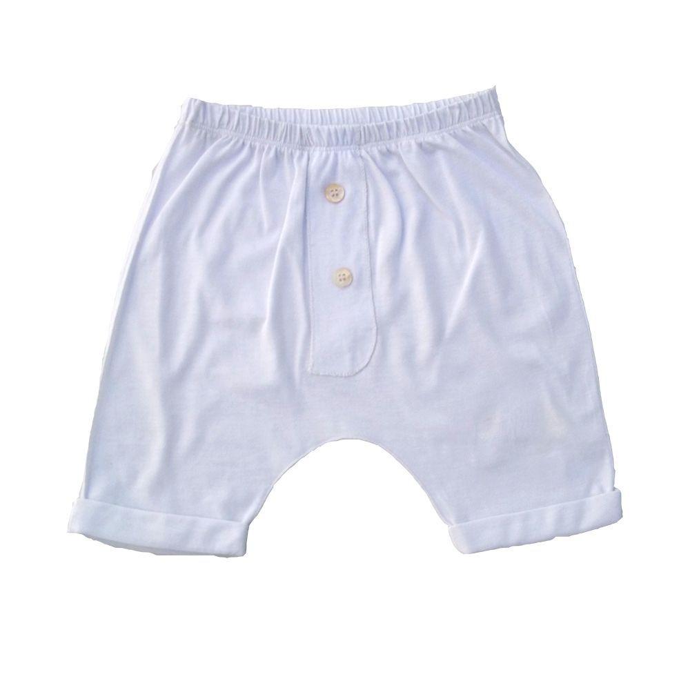 Conjunto Camiseta e calça Branca para bebê