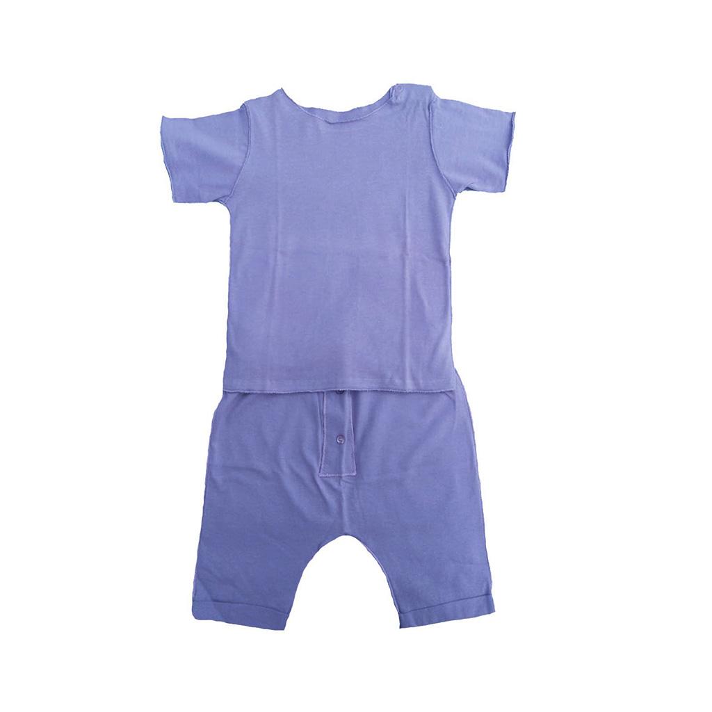 Conjunto Lilás Camiseta e calça para bebê