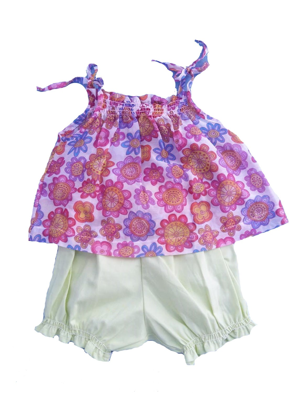 Conjunto Shorts e Bata para Bebê