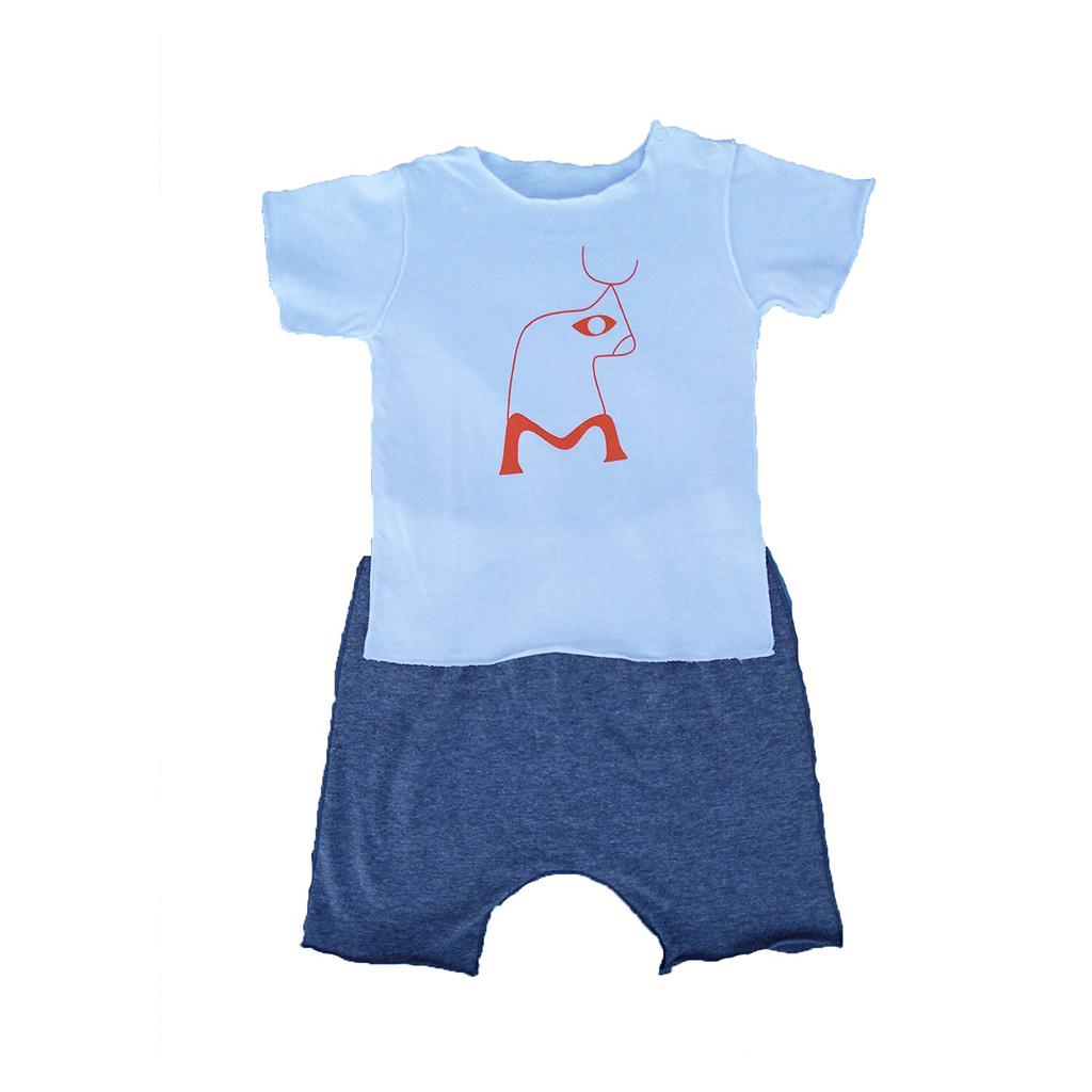 Conjunto Shorts e Camiseta Boizinho para Bebê