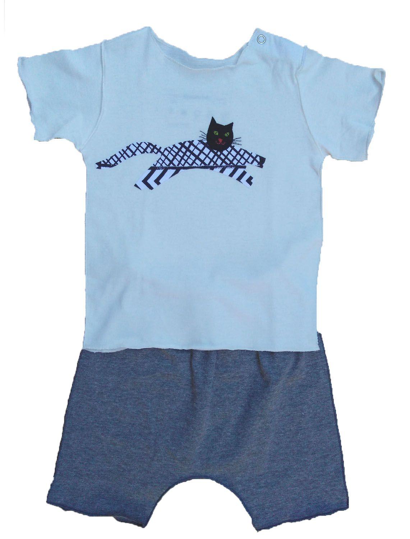 Conjunto Shorts e Camiseta Manga Curta para Bebê