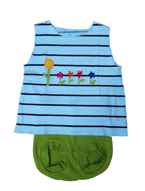 Conjunto Shorts tapa fralda e Regata para Bebê