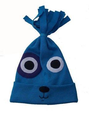 Gorro Xuxo Azul Turquesa de Carinhas para Bebê