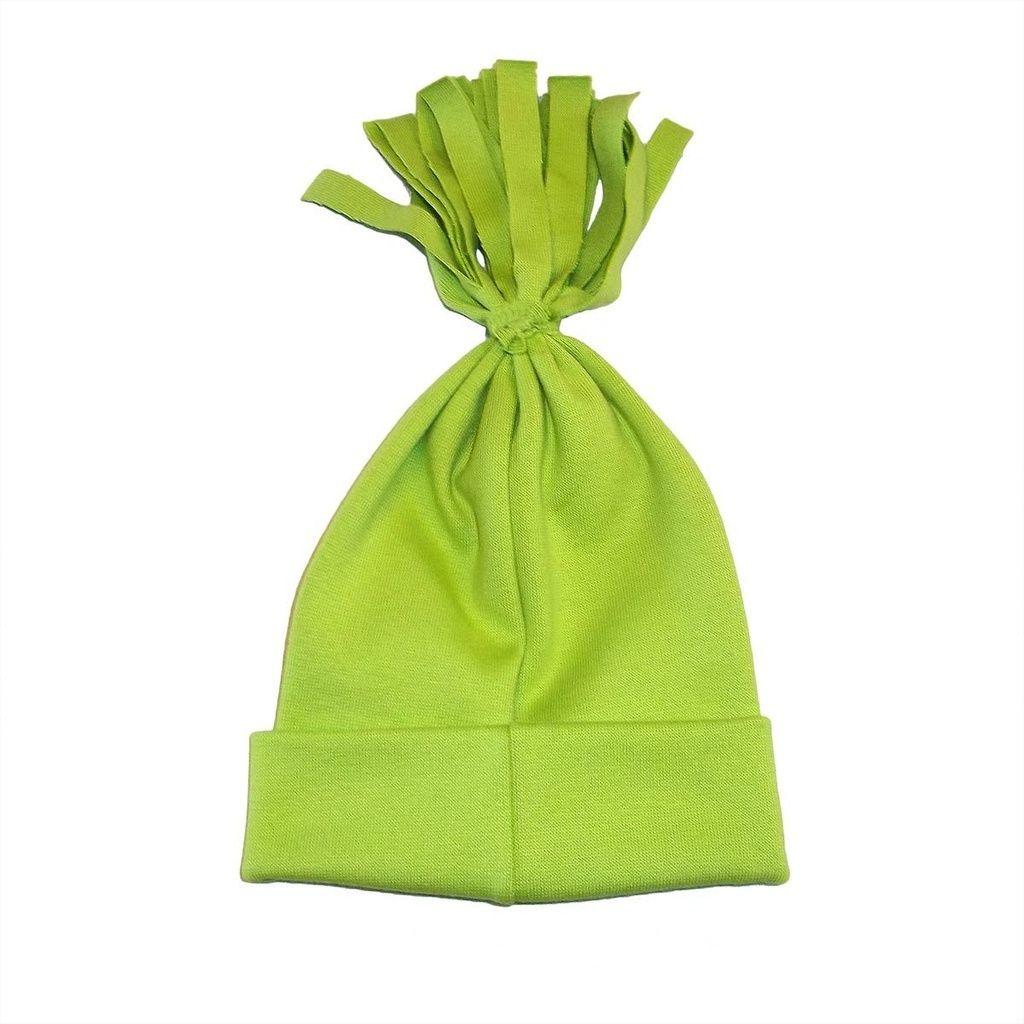 Gorro Xuxo em Malha Verde Limão