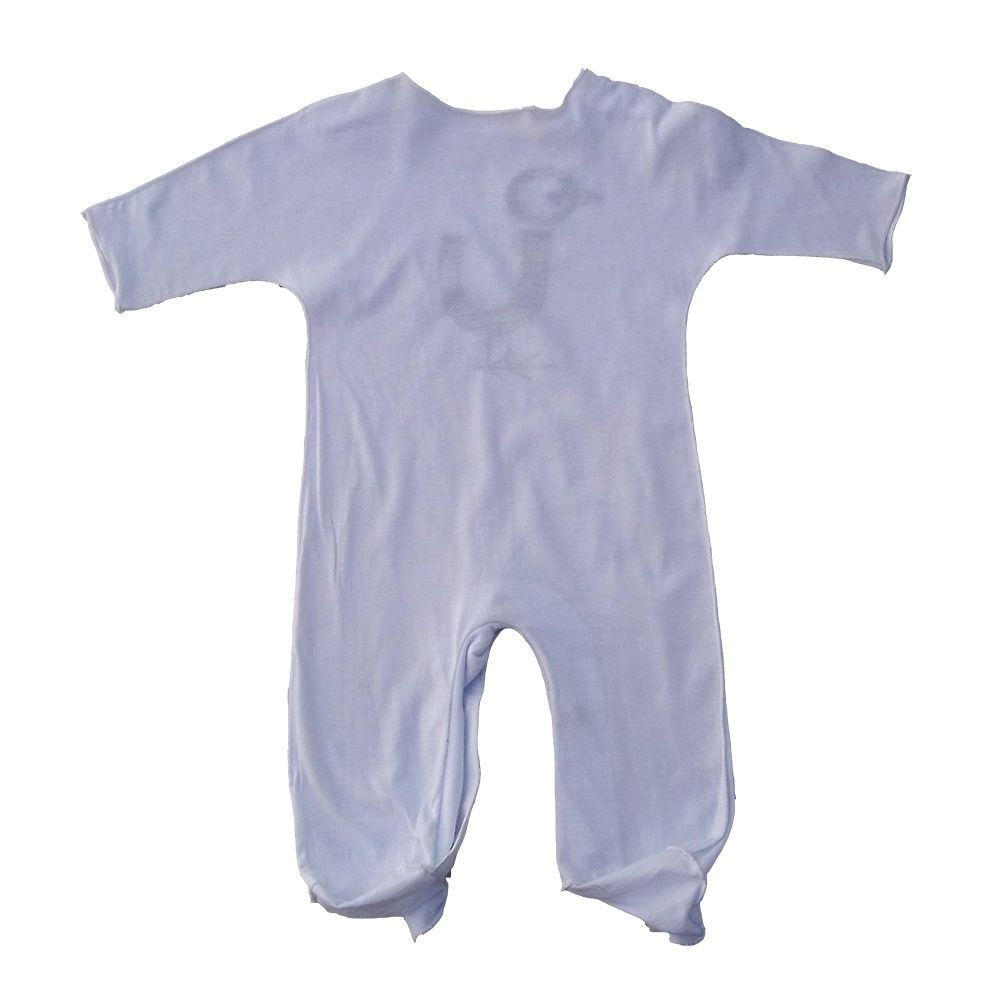 Macacão em Malha Branca para Bebê