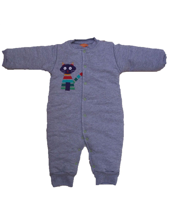 Macacão Esquimó para Bebê Mescla Cinza