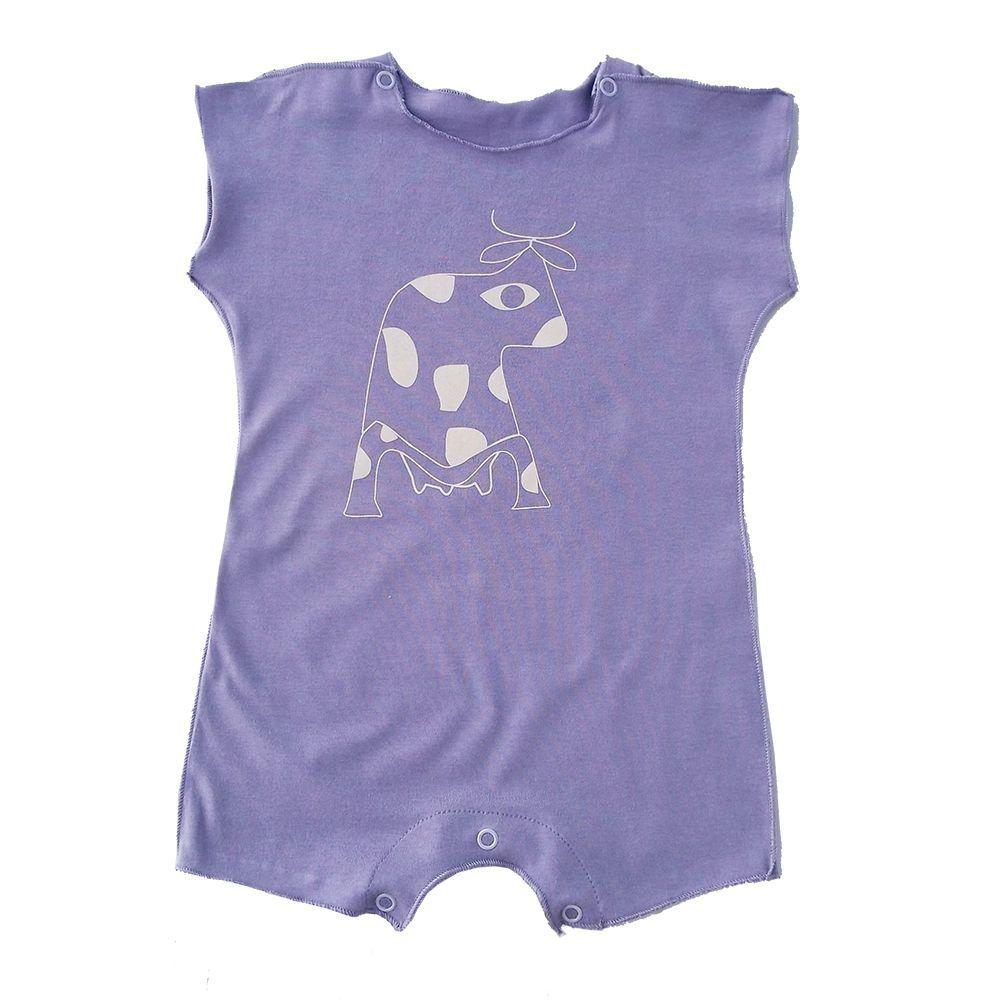 Macacão Manga Curta Lilás para Bebê