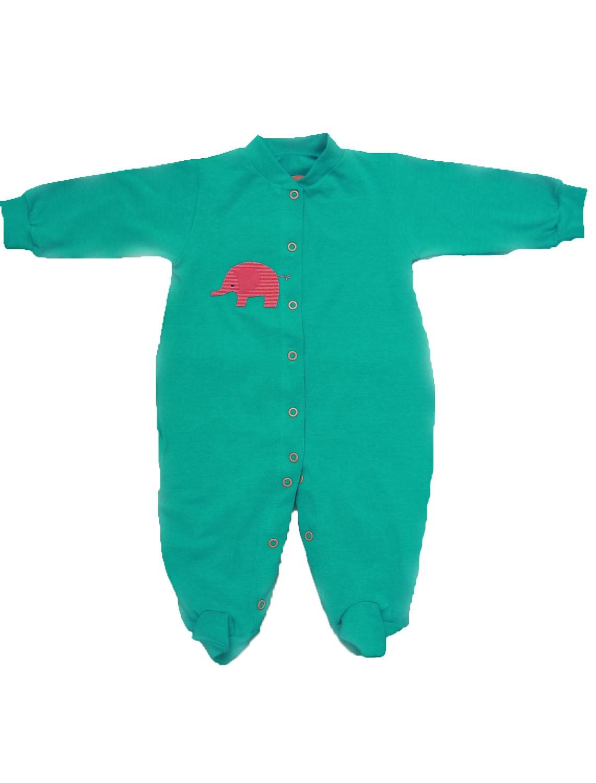 Macacão Manga Longa  Verde para Bebê