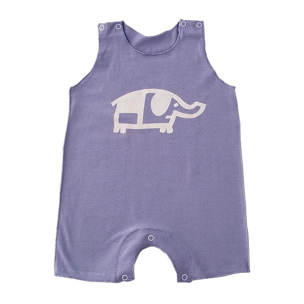 Macacão para bebê Regata Lilás Elefante